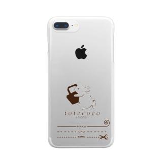 トートココオリジナル Clear smartphone cases