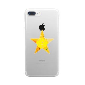 ごちゃごちゃほし Clear smartphone cases