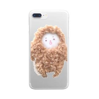 ゆきおとこのにしくん【ほよよ口】 Clear smartphone cases