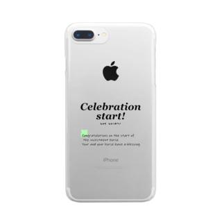 馬イラスト007 出資馬デビュー用 文字色 黒 Clear smartphone cases