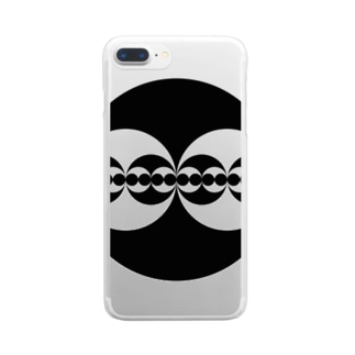 Fractal Circle Recursion Clear smartphone cases