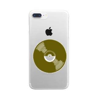 レコード達 Clear smartphone cases
