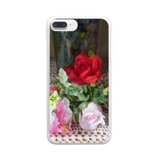 飾ってみると… Clear smartphone cases