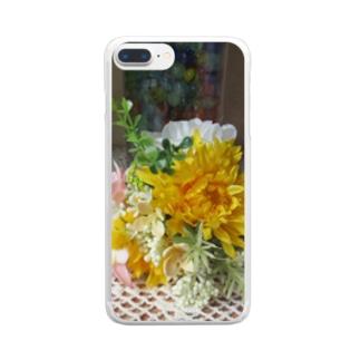 飾ってみるとNo.3 Clear smartphone cases