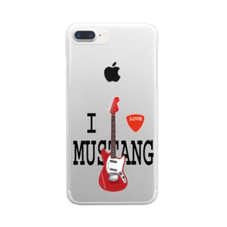 I LOVE MUSTANG Clear smartphone cases