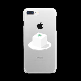 最上の豆腐 Clear smartphone cases