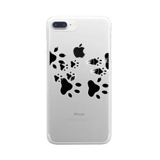 わんこ通過 Clear smartphone cases
