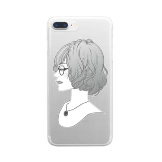 眼鏡女子 Clear smartphone cases