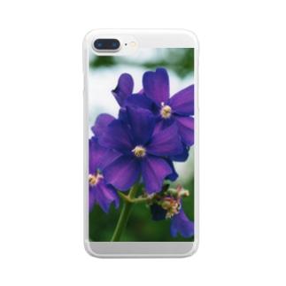 ヴァイオレットが咲いている Clear smartphone cases