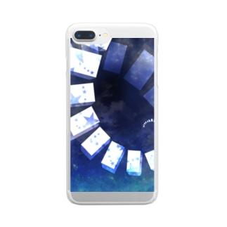 星空の階段 Clear smartphone cases