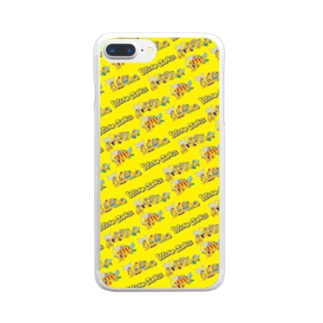 YELLOW JUNKIU 総柄(衝突事故) Clear smartphone cases