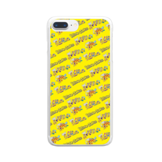 The World of YELLOW JUNKIEのYELLOW JUNKIU 総柄(衝突事故) Clear smartphone cases