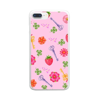 strawberry Clear smartphone cases