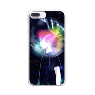 rainbow クリアスマートフォンケース