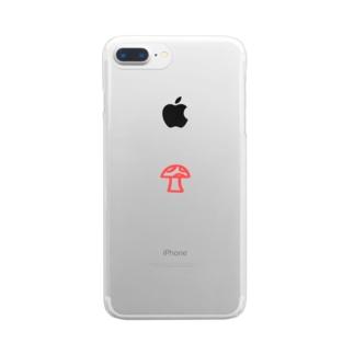 mushroom Clear smartphone cases