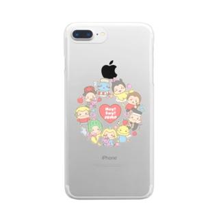 ぐるぐる★ぷぅちゃん Clear smartphone cases