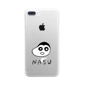 ナスちゃん Clear smartphone cases