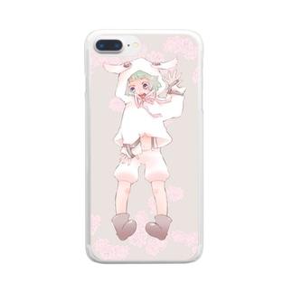 ぴんくのひつじ Clear smartphone cases