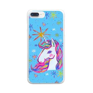 Unicorn5「star」 クリアスマートフォンケース