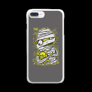 HUGオフォシャルショップのMummy Grey Clear smartphone cases