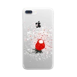 ハジけた〜ストロベリー狂想曲編〜 Clear smartphone cases