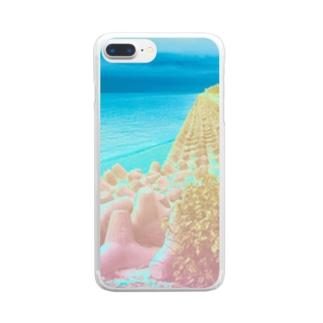 異界の海 Clear smartphone cases