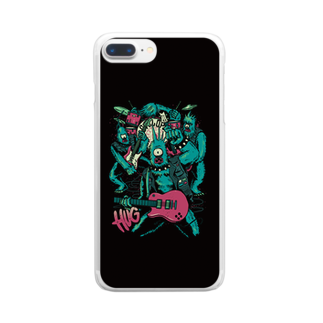 HUGオフォシャルショップのMonster Band Black Clear smartphone cases