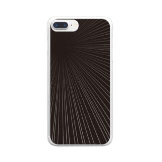 集中線1 Clear smartphone cases