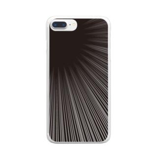 集中線2 Clear smartphone cases
