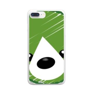 くまさんロゴマーク Clear smartphone cases