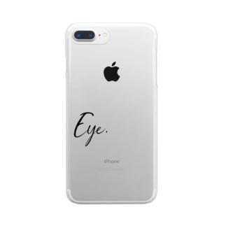 Eye.suzuri Black Clear smartphone cases