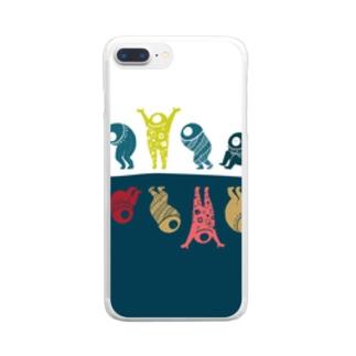 でんぐり Clear smartphone cases