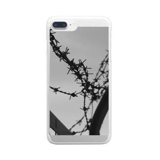 有刺鉄線 Clear smartphone cases