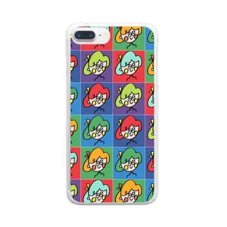 リボンガール マルチカラーver. Clear smartphone cases