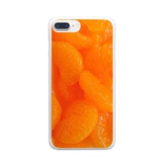 みかんゼリー Clear smartphone cases