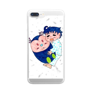 夢見る王子 Clear smartphone cases
