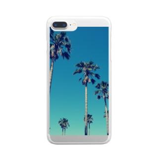 アオゾラヤシ Clear smartphone cases