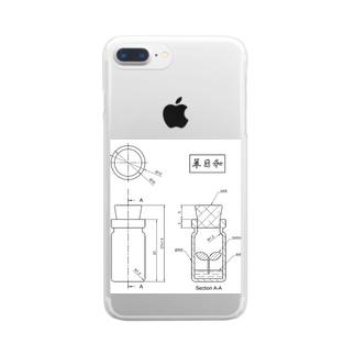 たにくリウム 図面 Clear smartphone cases