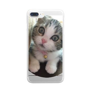 可愛い猫 Clear smartphone cases