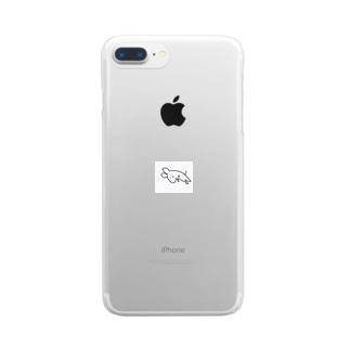 よこたわるねずみさん Clear smartphone cases