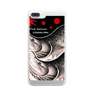 カラフトマス!古釜布(樺太鱒;PINK SALMON)生命たちへ感謝を捧げます。※価格は予告なく改定される場合がございます。 Clear smartphone cases