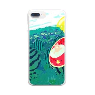 夏はスイカ Clear smartphone cases