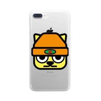 パ紋No.3272 花 Clear smartphone cases