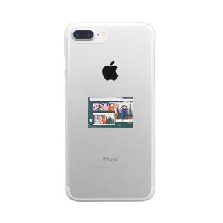 二次元への帰化 Clear smartphone cases