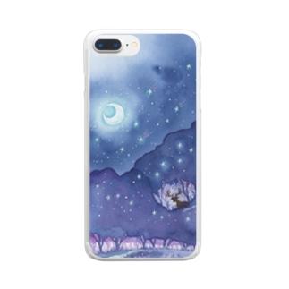 星降る森 クリアスマートフォンケース
