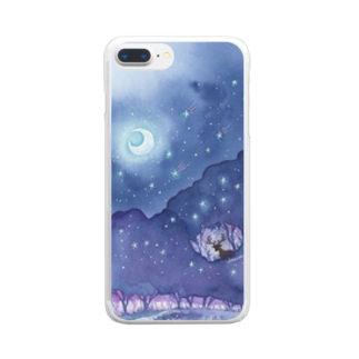 Rosemary*Teaの星降る森 Clear smartphone cases