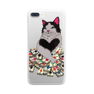 猫に大金 Clear smartphone cases