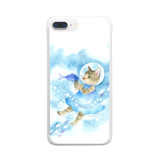 Rosemary*Teaの水中遊泳 Clear smartphone cases