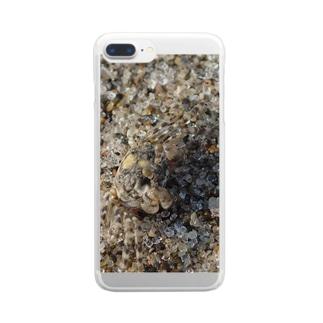 砂に擬態!?コメツキガニ Clear smartphone cases