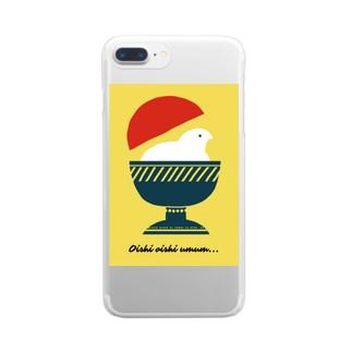 おいしい おいしい Clear smartphone cases